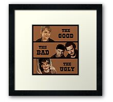 Home Alone T Shirt - The Good The Bad and The Ugly Framed Print
