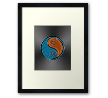 Cancer & Tiger Yang Wood Framed Print