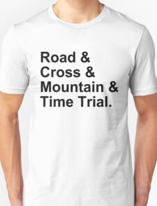 Bicycling Styles Unisex T-Shirt