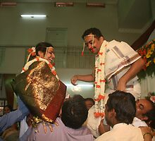 Exchange of Garlands by AnIndianWedding