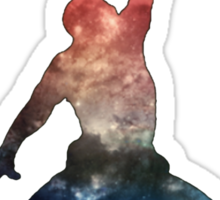Galaxy Jump Man Sticker