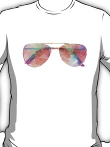Aviator Sunglasses Watercolor Sticker  T-Shirt