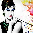 Audrey Hepburn with a twist by funkingonuts
