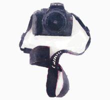 Canon DSLR Camera Watercolor Sticker by Vrai Chic
