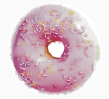 Pink Sprinkled Donut Watercolor - Hipster/Funny/Trendy Meme by Vrai Chic