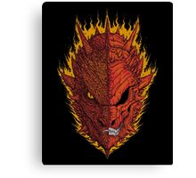 Fire and Death Canvas Print
