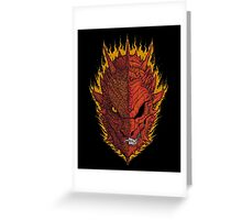 Fire and Death Greeting Card