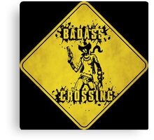 Nisha Badass Crossing (Worn Sign) Canvas Print