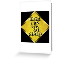 Nisha Badass Crossing (Worn Sign) Greeting Card