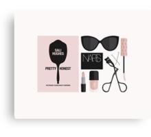 Beauty Blogger Flatlay Canvas Print