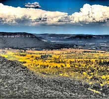 Give Me Land. Lots Of Land - Hassans Walls Lookout - Blue Mountains - The HDR Experioence by Philip Johnson