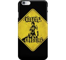 Athena Badass Crossing (Worn Sign) iPhone Case/Skin