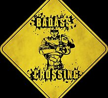 Roland Badass Crossing (Worn Sign) by WondraBox