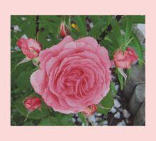 Pink Rose Carnation Flower Kids Clothes