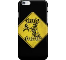 Mordecai Badass Crossing (Worn Sign) iPhone Case/Skin