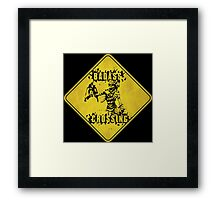 Mordecai Badass Crossing (Worn Sign) Framed Print