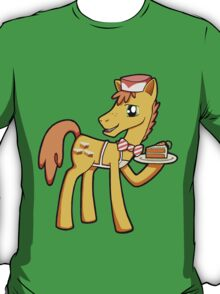 My Little Pony Friendship is Magic Mr. 'Carrot' Cake Sticker T-Shirt