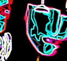 Neon Raymond and Shian  Sticker