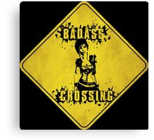 Lilith Badass Crossing (Worn Sign) Canvas Print