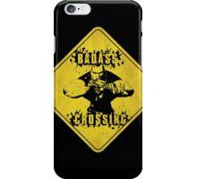 Brick Badass Crossing (Worn Sign) iPhone Case/Skin