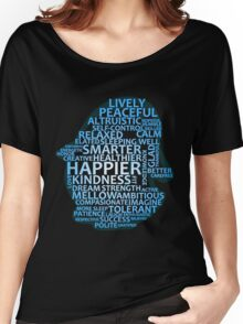 Inspirational Typography Penguin Women's Relaxed Fit T-Shirt