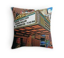 Downtown Movie theater Throw Pillow