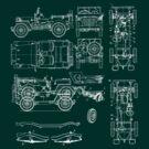 Jeep Blueprint by Stuart Stolzenberg