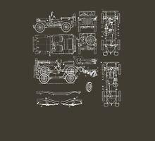 Jeep Blueprint Unisex T-Shirt