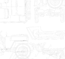 Jeep Blueprint Sticker