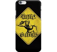 Badass Crossing (Worn Sign) iPhone Case/Skin