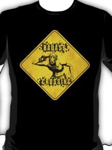 Badass Crossing (Worn Sign) T-Shirt