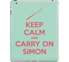 Keep Calm and Carry On Simon—Pink Text iPad Case/Skin