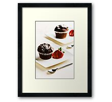 Chocolate Muffins Framed Print