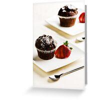 Chocolate Muffins Greeting Card