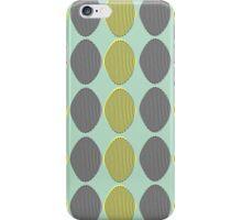 Mid-Century Modern Ovals iPhone Case/Skin
