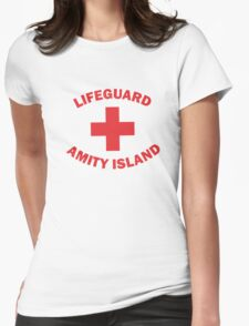 Lifeguard Amity Island Womens Fitted T-Shirt