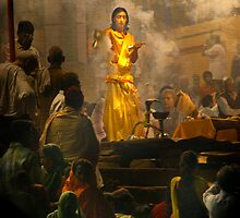 Hindu Priest at Varanasi by Boadicea
