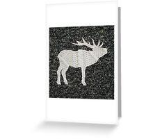 Knitted Elk Design Greeting Card