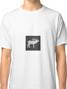 Knitted Elk Design Classic T-Shirt