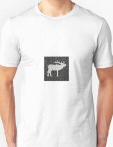 Knitted Elk Design Unisex T-Shirt