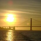 Golden Gate Golden Sun by jacobra