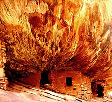 House on Fire Ruin - Utah by Rick Schafer