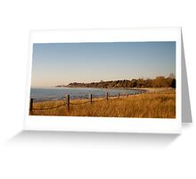 Lakeshore Fence Greeting Card