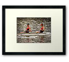 Australian Masters Double Scull Framed Print