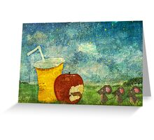 The Mice and The Apple Greeting Card