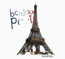 Bonjour Paris One Piece - Long Sleeve
