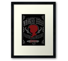 Tuxedo - Rose Throw Framed Print