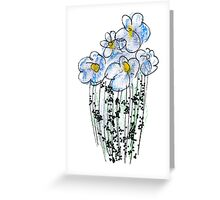 Messy Flowers Greeting Card