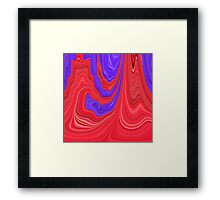 Red and Purple Flowing Bold Color Abstract Art Design Framed Print