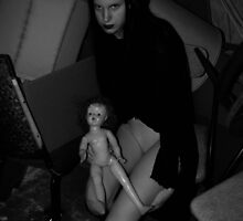Girl with doll by mooreno